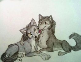Commission-Wolf Brothers by Stray-Sketches