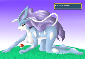 Wild Suicune Appeared! by oldanthropokemon