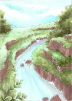 ACEO: Where the river flows by IvoryPeony