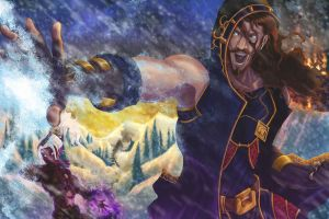 Warcraft Mage and Warlock by AkibaBoy