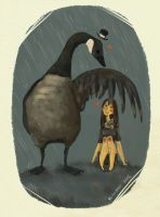 a girl and her goose by button-bird
