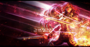 Katarina LoL Collab with Ekah Nicole by DeBaron8