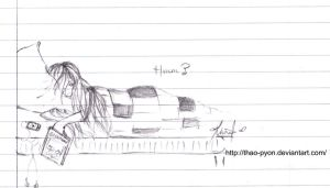 School Doodles : So Tired by Thao-Pyon
