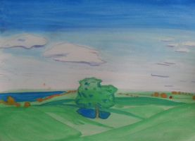 Watercolor landscape by unlymited