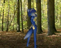 Krystal Sexy Forest Pose by xXTREMEXx