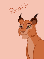Pumzi the Mystery Lioness - Concept by Wolf-Chalk