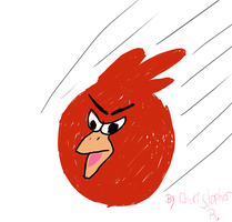 Red AngryBird by ArticTiger