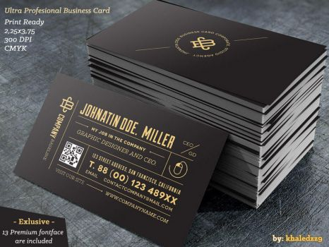 Ultra Profesional Business Card by khaledzz9