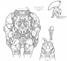 Centurion ''HH-06'' Powered Armor System by Jaql