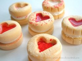 Valentine Shortbread Cookies by quaint-dame