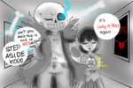 Step Aside Kiddo - Undertale and Ib by MyaNyan