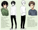 Character sheet - Yuuta and Keiichi by Fishiebug