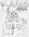 Dining room - lineart by Nortstar