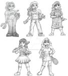 Character Sketches for card/board game by godzillasmash
