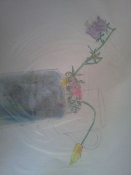 Pencil and pastel flowers by finalsight618