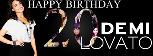 Happy 20th birthday Demi Lovato! by DirectionerHere