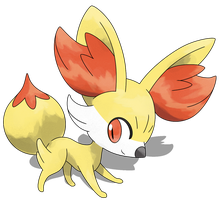 Pokemon Y: Fennekin by Smiley-Fakemon