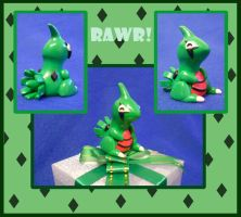 Clay Larvitar by Myklor