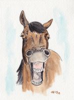 Horse Laugh 1 by IckyDog