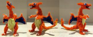 Charizard Pipe Cleaners by kalicothekat