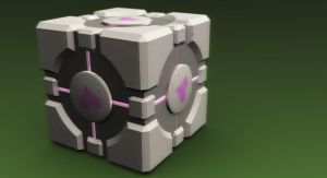 Companion Cube by thekingofthevikings