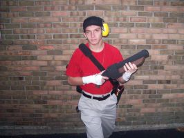 Team Fortress 2 RED Scout Cosplay - Scattergun by MasteroftheContinuum