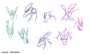 Dragon head designs by zavraan