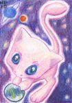 ACEO Mew by rayechu