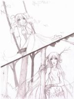 Doodleness 3 - Old manga idea by Rossilyn
