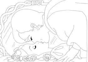 -kiss Snowwhite+Prince lineart by lizzzy-art