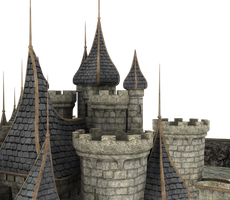 Castle Stock Parts #20 beautiful on top of towers by madetobeunique