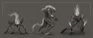 Demon concept sketches by Shuty9
