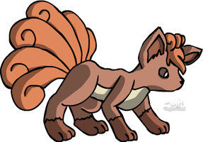 Vulpix by Dragon-Minded