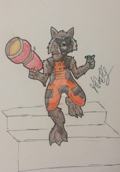 Rocket Racoon by Fisherfly
