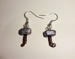 Thor's Hammer (Mjolnir) Earrings by ByToothAndClaw