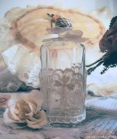 Bottle and roses by FrancescaDelfino