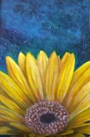 Gerbera Daisy Painting by kimberly-castello