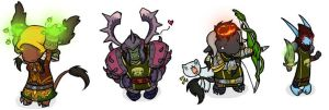 Warcraft Chibis Set1 by feedapollyon