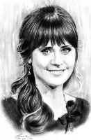 Zooey Deschanel by FrankGo