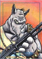 Rocksteady sketch card by JLWarner
