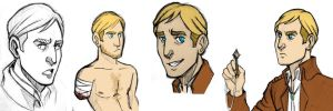 Erwin Smith sketchdump by lubyelfears