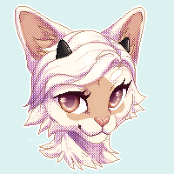 pixel cat by vicoon7