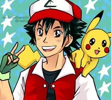 Commission: Older Ash and Pikachu by mailman-dragonite