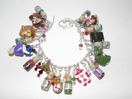Alice in Wonderland Charm Bracelet, Completed! by Secretvixen