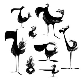 Bird Silhouettes by FreakyPicasso