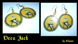 decoupage Jack earrings by Marchia