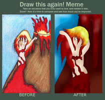 Fire Godess before and after by vampireintherain