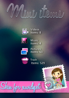 Skin for xwidget Mini Items by Isfe