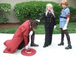 Integra ,Alucard, and  Seras by sharpshadow9545