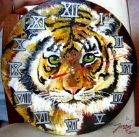 Tiger Clock no.1 by LenaZLair